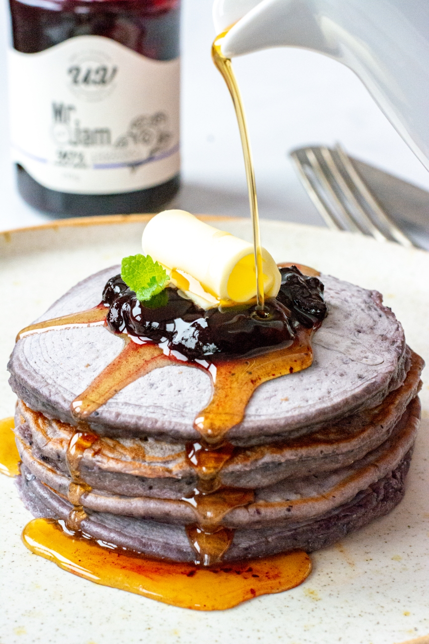 Blueberry Spread Pancake